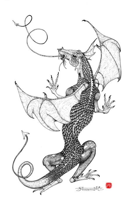 Ragnarok Studio Black And White Fantasy Art By Deborah Fay